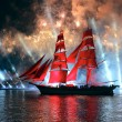 Celebration Scarlet Sails show during the White Nights Festival — Stock Photo #77785284