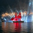 Celebration Scarlet Sails show during the White Nights Festival — Stock Photo #77785286