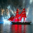 Celebration Scarlet Sails show during the White Nights Festival — Stock Photo #77785288