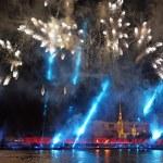 Celebration Scarlet Sails show during White Nights Festival — Stock Photo #77811660