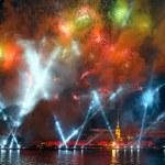 Celebration Scarlet Sails show during White Nights Festival — Stock Photo #77811666