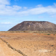 Trail and volcano on Island of Los Lobos in the Canary Islands — Stock Photo #55860275