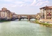 Ponte de ponte vecchio em florença — Foto Stock