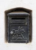 Black Vintage Letterbox — Stock Photo