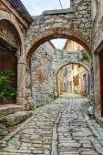 Typical street in Bale or Valle in Croatia — Stock Photo