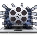 Laptop and film — Stock Photo #53024111