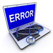 Laptop error — Stock Photo