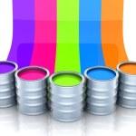 Paint, five bright colors — Stock Photo #59969933