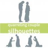 Quarreling couple — Stock Vector