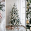 Christmas tree with presents underneath in living room, collage. — Stock Photo #59168765