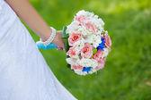 Bright colorful bridal bouquet — Zdjęcie stockowe
