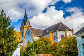 Hluboka nad vltavou şehir Kilisesi — Stok fotoğraf