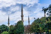 View on minarets in Istanbul — Stock Photo