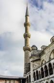 View on minarets of Blue Mosque in Istanbul — Stockfoto