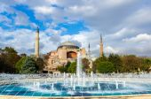 View on Aya Sofia Temple in Istanbul — Stock Photo