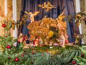 Christmas scene in church Karlskirche — Stockfoto
