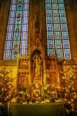 Interiör bild av kyrkan i Wien — Stockfoto