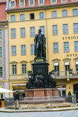 View on Friedrich August II statue in Dresden, Germany — Stock Photo