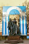 Monument of famous poet Pushkin with his wife in Moscow — ストック写真
