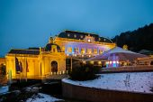 Night view on casino in Baden bei Wien — Stock Photo