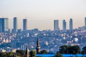 View on skyscrapers in Istanbul — Stock Photo