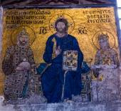 View on mural in Aya Sofia Temple in Istanbul — Stockfoto