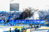 Zenit Saint-Petersburg fans — Stock Photo