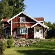 Swedish red little cottage — Stock Photo #60609407