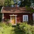 Swedish red little cottage — Stock Photo #60610075