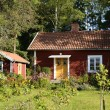 Swedish red little cottage — Stock Photo #60611759
