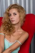 Young beautiful blonde — Stok fotoğraf
