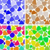 Set of backgrounds colored irregularly circles — Stock Vector