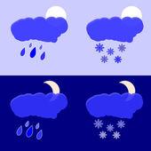 Regn och snö — Stockvektor