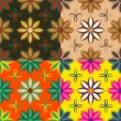 Set of seamless patterns of flowers — Stock Vector #67368959