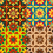 Set of seamless patterns of flowers — Stock Vector #67368977