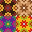 Set of seamless patterns of flowers — Stock Vector #67368987