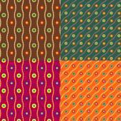 Set color of seamless patterns — Stock vektor
