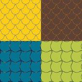 Patterns of irregular grid — Stock Vector