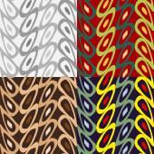 Set of geometric seamless pattern — Stock Vector
