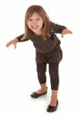 Mischievous Little Girl Planning To Scare Someone — Stock Photo