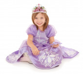 Little Fairy Princess Sitting and Smiling — Stockfoto