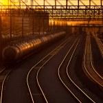 Railroad station at sunset — Stock Photo #69467703