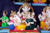 Idol of Lord Ganesh with his wife for sale — Stock Photo