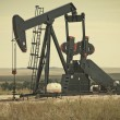 Pump Jack Lifting Crude Oil — Stock Photo #63220675