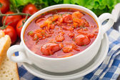 Vegetable soup in a bowl — Stock Photo