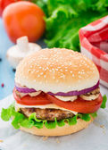 Home made burger — Stock Photo