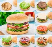 Home made burger. Step by step. — Stock Photo
