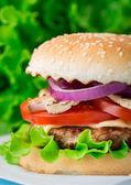 Home made burger — Stock Photo
