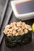 Close up of gunkan sushi — Stock Photo