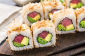 Sushi roll with tuna — Stock Photo